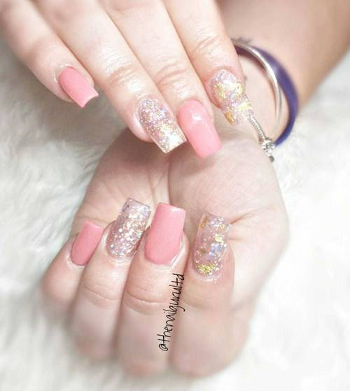 Short spring acrylics   Contact us to get your nails done today