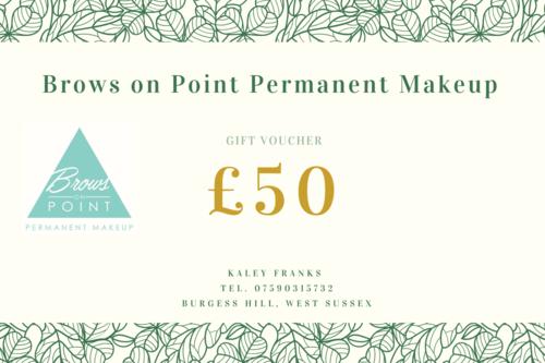 Permanent Makeup Gift Voucher