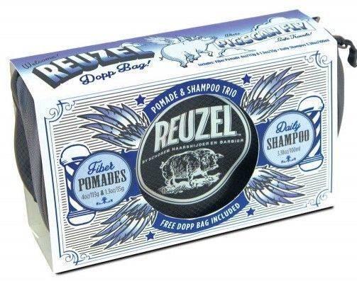 REUZEL Trousse PIGS CAN FLY - BLUE - Trio Cires Et Shampoing