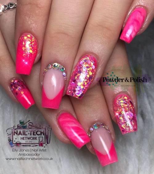 Pink custom full set with extra swarvoski