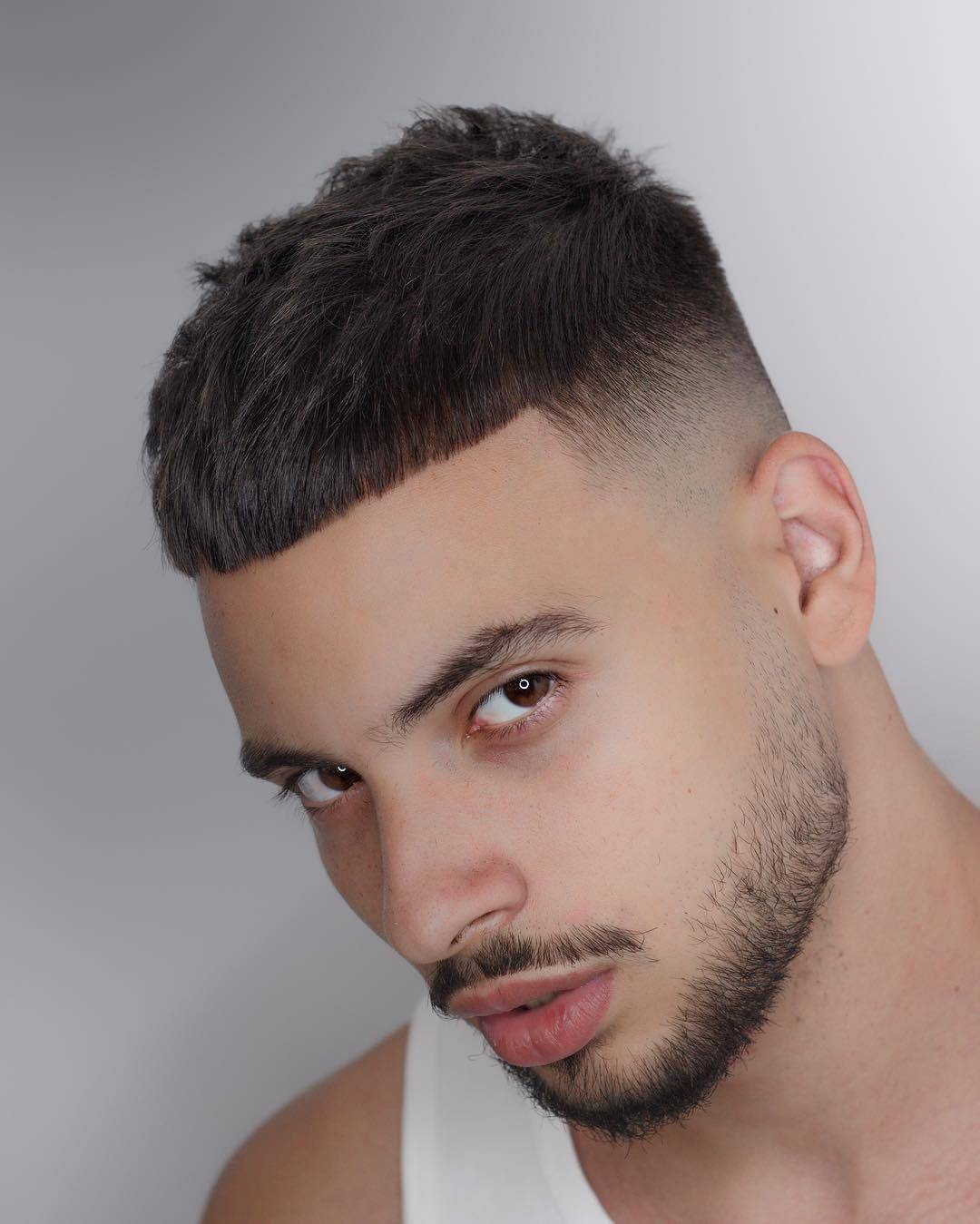 Skin fade French crop hair cut