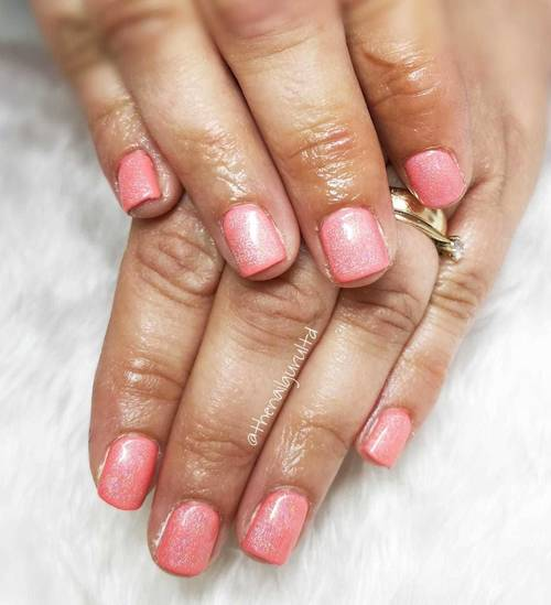 Coral nails for spring , I'm just on love