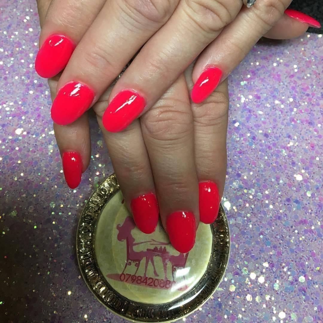 Beauty Den - Neon Pink Acrylic Nails #notpolish #acrylicnails ...