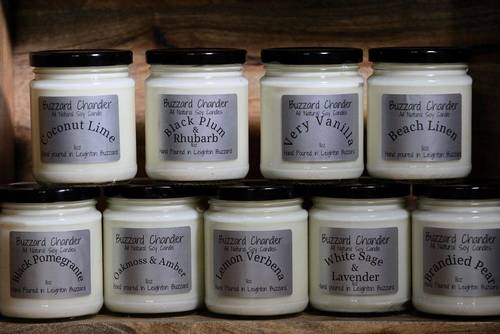 All natural soy Candles by Buzzard Chandler