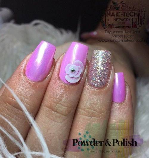 Gel mani with extra nail art