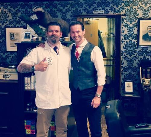 With Karl Smith at Karl Smith Mens Grooming.