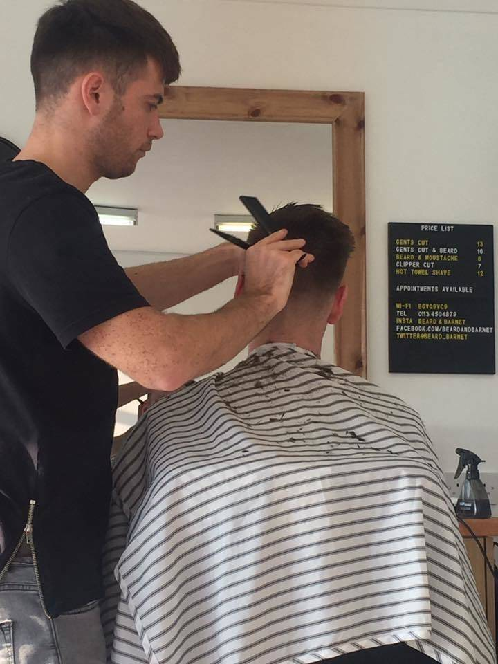 Kieran Worthington bang at it on Saturday. For an appointment give us a shout on 01134504879 or message on Facebook ✂️✂️