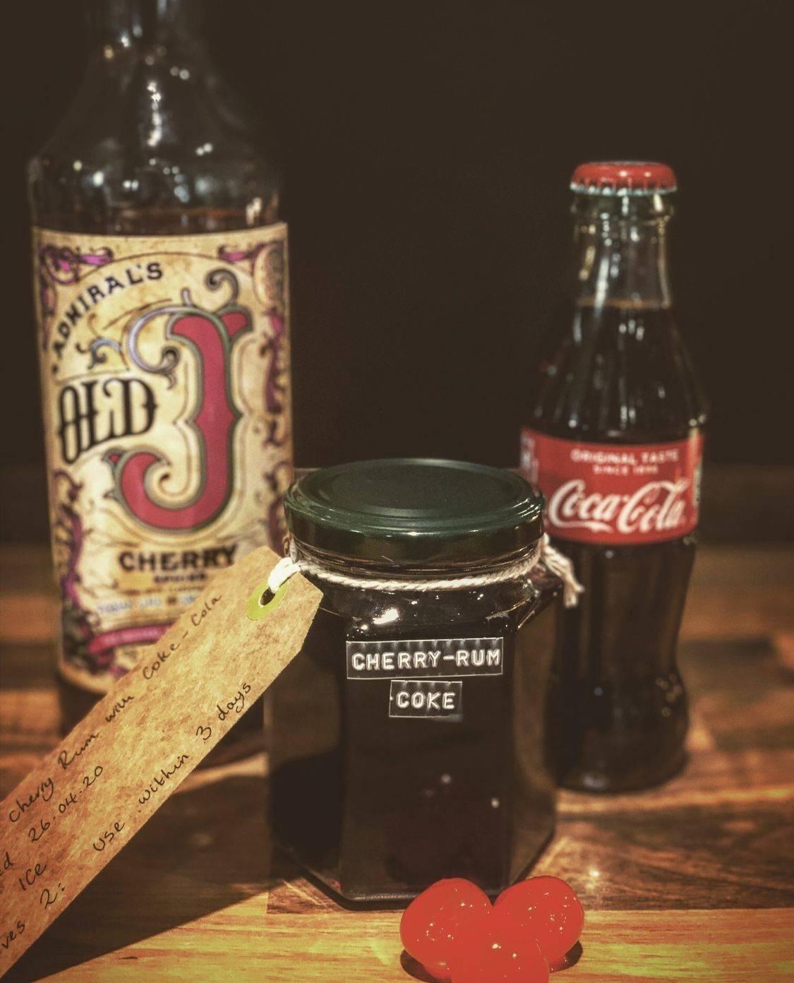 Cherry 'Rum' Coke (serves 2)