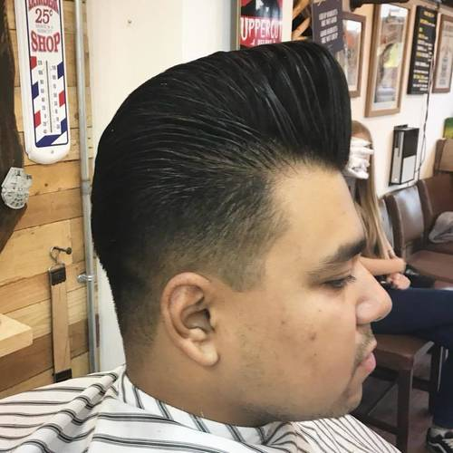 Pompadour by Andy slicked up with #LayriteSuperShine pomade ✂️