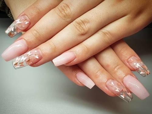 Acrylic extensions 🦋🦋🦋 #nailsoftheday #nails #acrylicnails #cornwall #beautyincornwall #nails2020 #nailspiration #nailsalon #porthtowanbeach