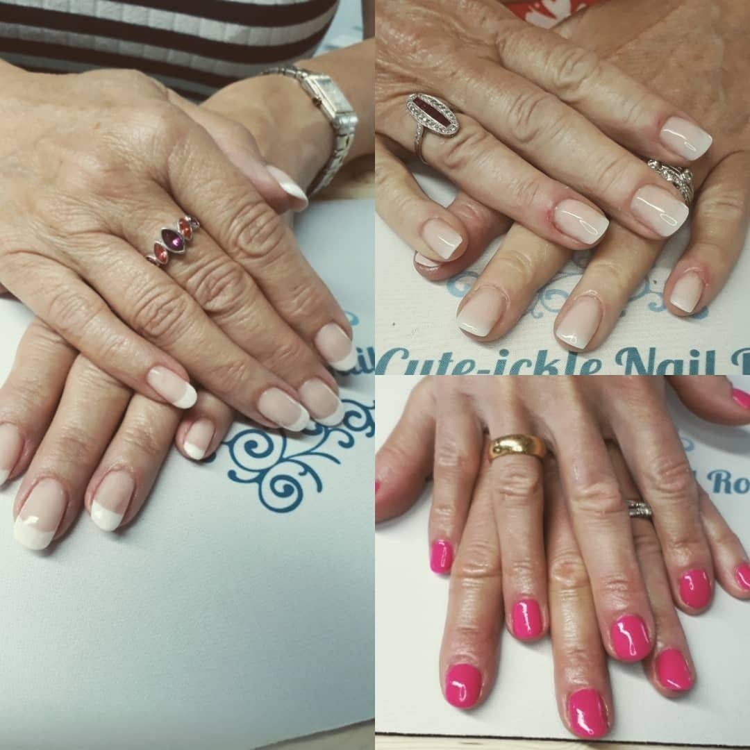 A few sets from a fab Friday at 'work' (I love that I get to call this a job)! #youngnailsacrylic #ombrenails #gotime #frenchmanicure #ilovemyjob
