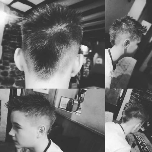 Throwback for the #parkour lad. He never shys away from being different. Don't follow the crowd be yourself.  #barbershop #barbersagainstbullying #porkchop