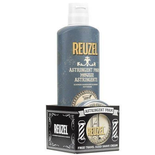 Reuzel Astringent Foam Mousse 200ml - Free! Travel Sized Shave Cream