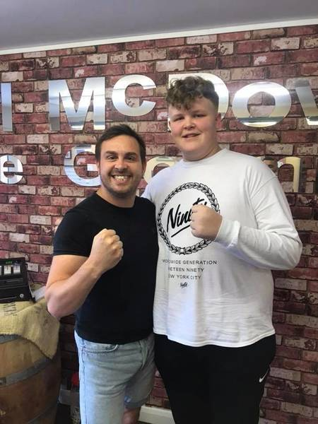My 16 years old Customer 6ft 5in tall Watch out Tyson fury